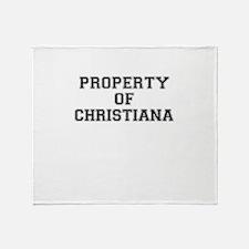 Property of CHRISTIANA Throw Blanket