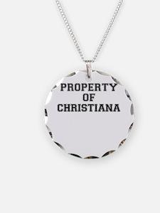 Property of CHRISTIANA Necklace