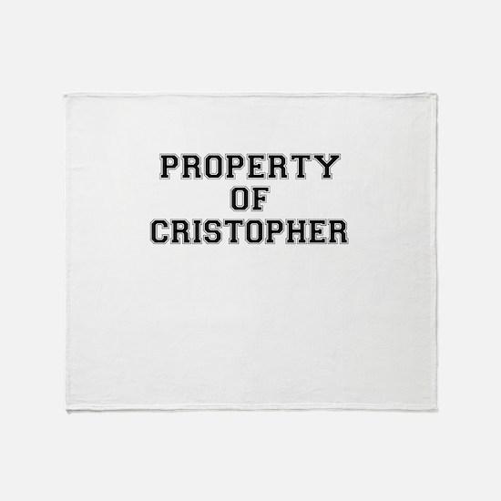 Property of CRISTOPHER Throw Blanket