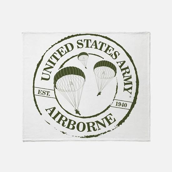 Army Airborne Throw Blanket