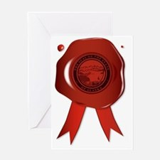 Cute Alaska state seal Greeting Card