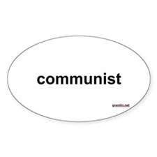 BTR: communist Oval Decal