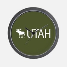 Utah: Moose (Mountain Green) Wall Clock