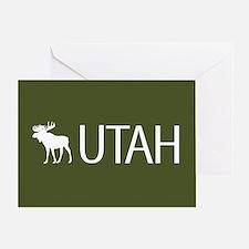 Utah: Moose (Mountain Green) Greeting Card