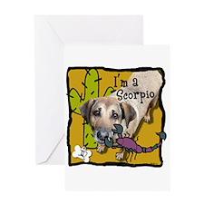 I'm a Scorpio Greeting Card