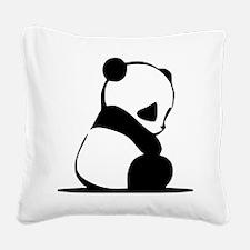 Unique Panda Square Canvas Pillow