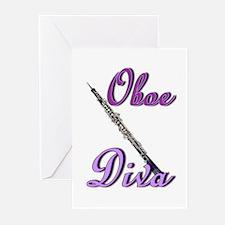 Oboe Diva Greeting Cards (Pk of 20)