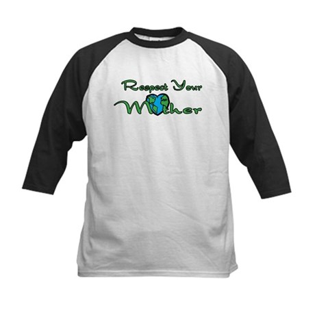 Respect Your Mother Earth Kids Baseball Jersey