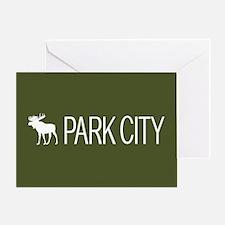 Utah: Park City Moose (Mountain Gree Greeting Card