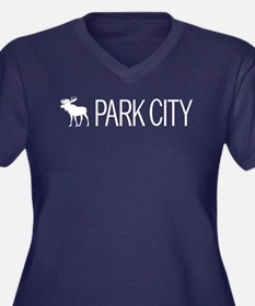 Utah: Park C Women's Plus Size V-Neck Dark T-Shirt