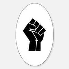 Revolution Anarchy Power Fist Sticker (Oval)