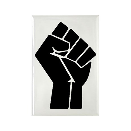 Revolution Anarchy Power Fist Rectangle Magnet