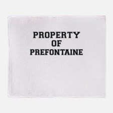 Property of PREFONTAINE Throw Blanket
