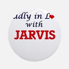 Madly in love with Jarvis Round Ornament