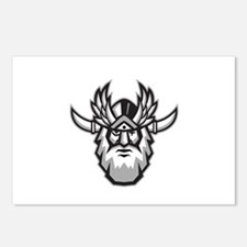 Norse God Odin Head Retro Postcards (Package of 8)