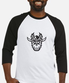 Norse God Odin Head Retro Baseball Jersey