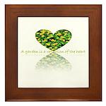 Reflection of the heart Framed Tile