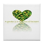 Reflection of the heart Tile Coaster