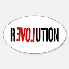 Revolution Love Oval Decal