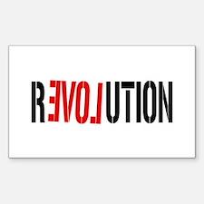 Revolution Love Rectangle Decal