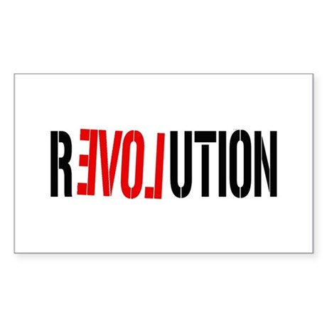 Revolution Love Rectangle Sticker