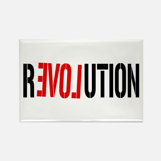 Revolution Love Rectangle Magnet