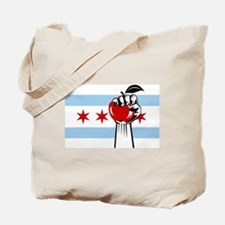 Cool Chicago flag Tote Bag