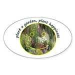 Plant garden, Plant Happiness Oval Sticker