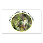 Plant garden, Plant Happiness Sticker (Rectangular