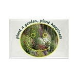 Plant garden, Plant Happiness Rectangle Magnet
