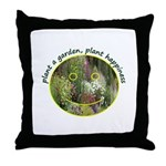 Plant garden, Plant Happiness Throw Pillow
