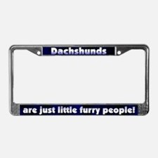 Furry People Dachshund License Plate Frame