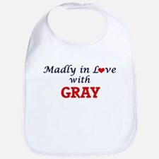 Madly in love with Gray Bib