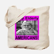 Help Elderly Americans Tote Bag
