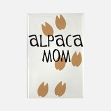 Alpaca Mom Rectangle Magnet