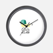 On A Roll Wall Clock