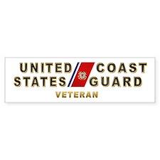 USCG Veteran Bumper Bumper Sticker