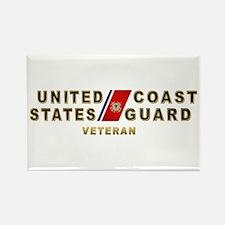 USCG Veteran Rectangle Magnet (10 pack)