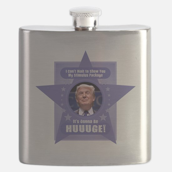 Trump Stimulus Package Flask