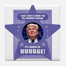 Trump Stimulus Package Tile Coaster