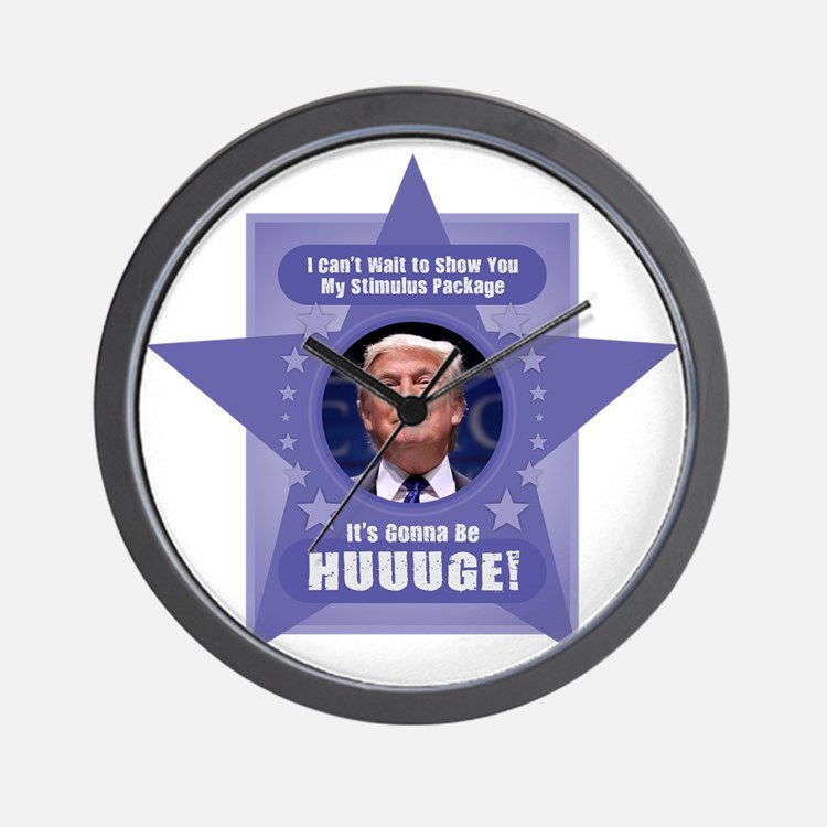 Trump Stimulus Package Wall Clock