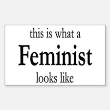What A Feminist Looks Like Decal