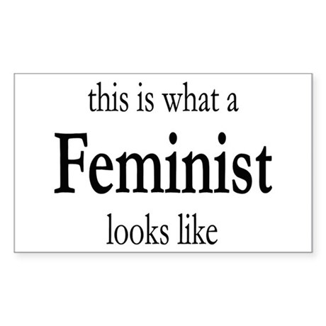 What A Feminist Looks Like Sticker (Rectangle)