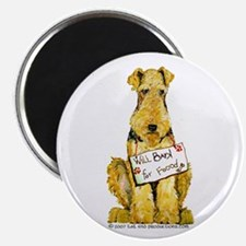 Airedale Terrier Bark for Food Magnet