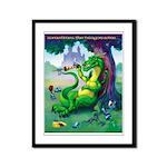 Dragon Wins Framed Panel Print