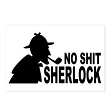 No Shit Sherlock Postcards (Package of 8)