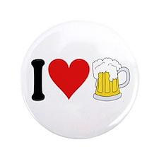 "I Love Beer (design) 3.5"" Button"
