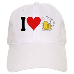 I Love Beer (design) Baseball Cap