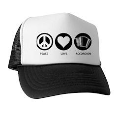 Peace Love Accordion Trucker Hat