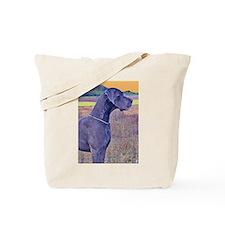 Great Dane Blue Art Scene Tote Bag